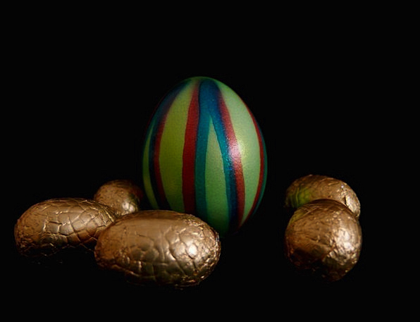 Easter Brown Egg Ovum Chocolate Cake Eggs Spawns B