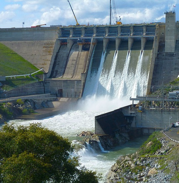 Dam Barrier Excess Water Aquatic Overflow Energy V