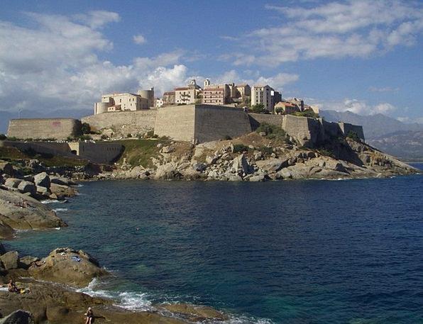 Corsica City Wall Calvi Old Town Sea Marine