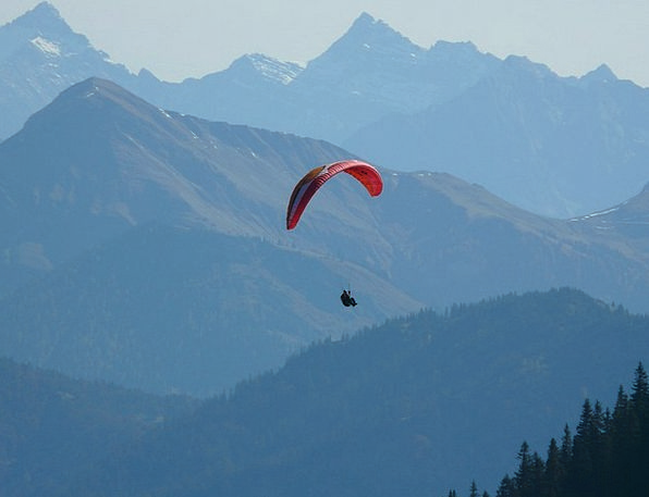 Paraglider Landscapes Hover Nature Flight Aeronaut