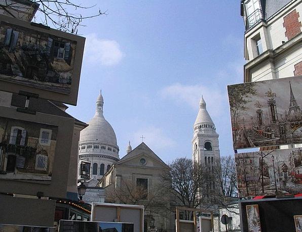 Paris Place Du Tertre Montmartre Painters Artistes