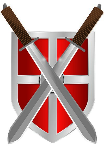 Shield Protection Monuments Blades Places Knight C