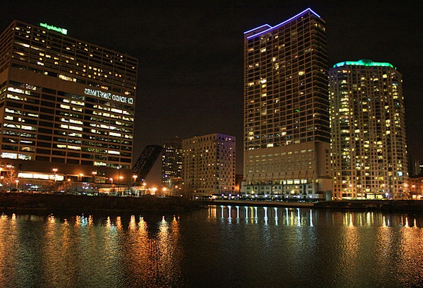 Chicago Buildings Horizon Architecture Reflection