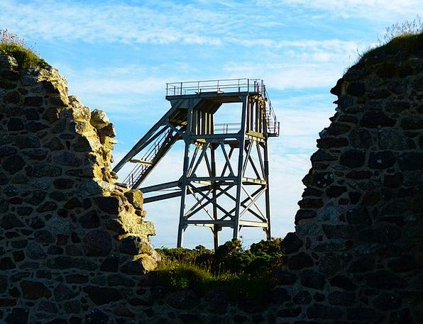 Headframe Pit Botallack Mine Mine St Just Cornwall
