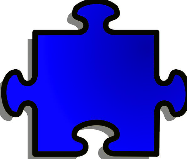 Jigsaw Form Blue Azure Shape Puzzle Mystery Free V
