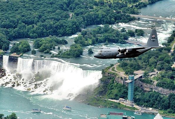 Niagara Falls Landscapes Nature Usa New York Natur