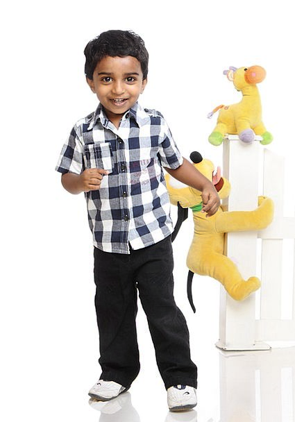 Boy Lad Content Playing Live Happy Cheerful Toys D
