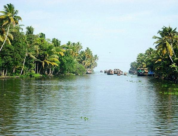 River Stream Boats Ships Houseboats India Kerala