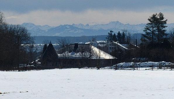 Allgäu Season Snow Snowflake Winter Panorama View