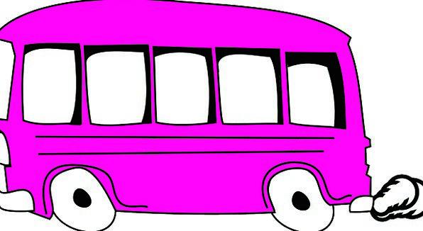 school bus pixcove rh pixcove com Pink Car Clip Art Girl 9th Birthday Clip Art Pink