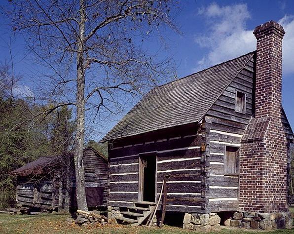 Farm Farmhouse Wood Timber Out Buildings Scene Wor