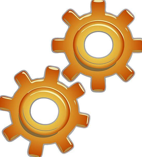 Gears Mechanisms Train Copper Engine Part Motion G