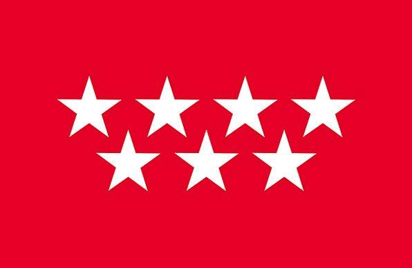 Madrid Flag Standard Community Of Madrid Spain Reg