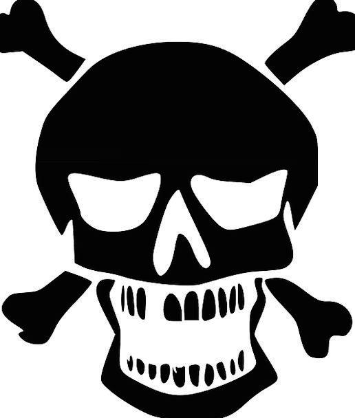 Crossbones Mind Black Dark Skull Chemicals Death D