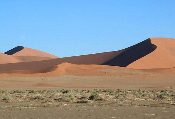 Arid Dry Banks Hot Warm Dunes Namibia Africa Deser