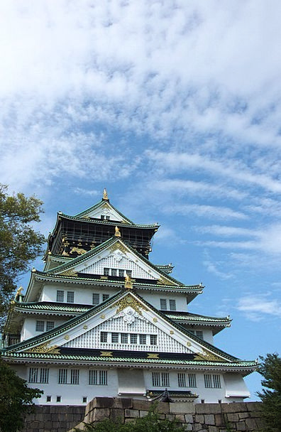 Osaka Buildings Fortress Architecture Japanese Cas