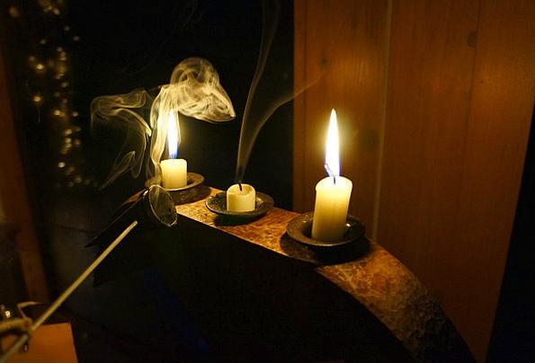 Candle Taper Blaze Smoke Burn Flame Night Nightly