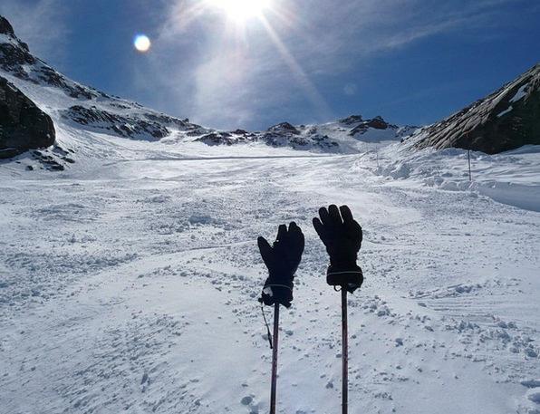Gloves Ornaments Winter Season Ski Poles Skiing Wh