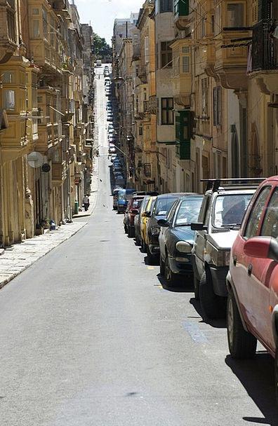 Malta Traffic Transportation Autos Cars Old Town P