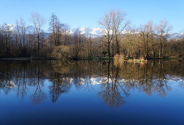 Lake Freshwater Landscapes Scenery Nature Mirror G