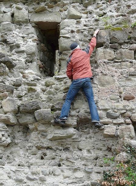 Climb Hike Fortress Ruin Devastation Castle Climbe