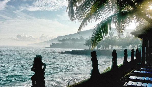 Bali Vacation Seashore Travel Candidasa Beach Trav