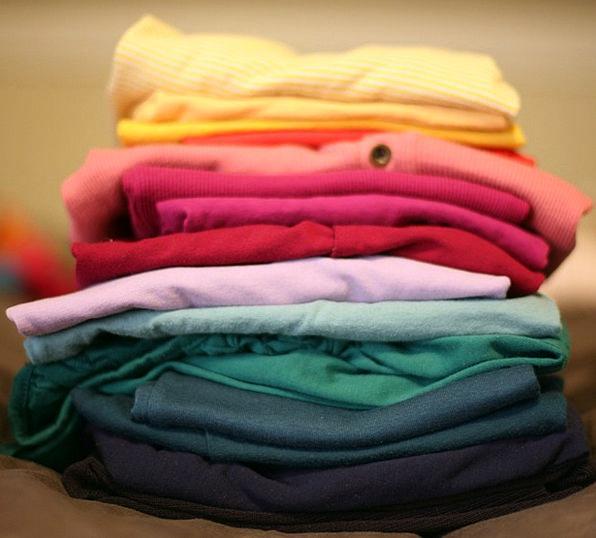 Folded Doubled Washing Stack Heap Laundry T-Shirt