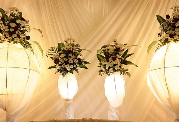 Flowers Plants White Snowy Wedding Party Decor Dec