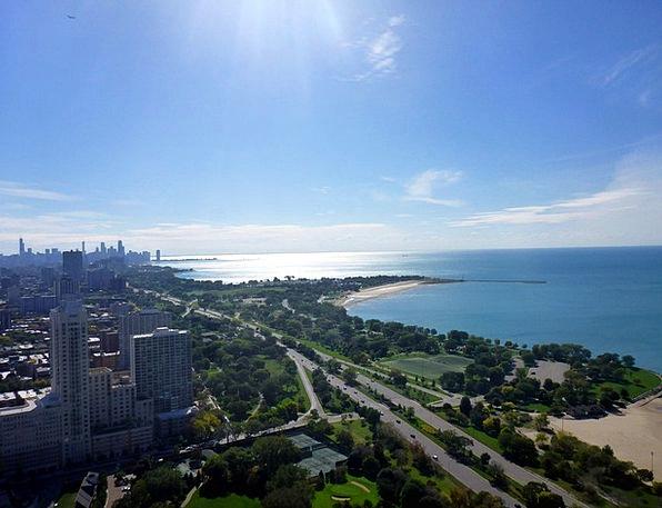 Lake Michigan Skyline Horizon Chicago Lake Shore