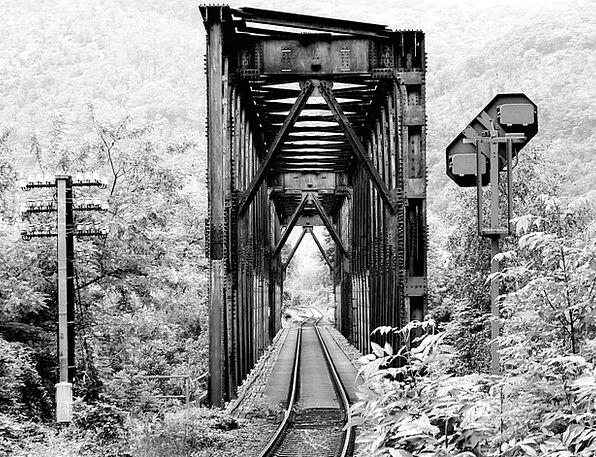 Black And White Viaduct Railway Railway Bridge Bri