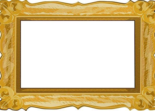Frame Edge Decorative Artwork Creation Ornate Bord