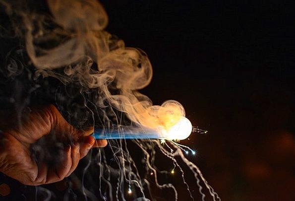 Fireworks Rockets Burn Diwali Smoke Deepawali Ligh