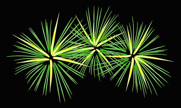 Fireworks Rockets Celebratory Green Lime Festive E