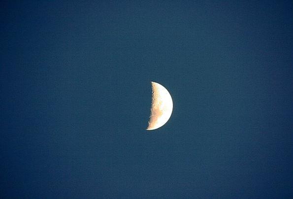 Half Moon Half circle Moon Romanticize Nightsky As