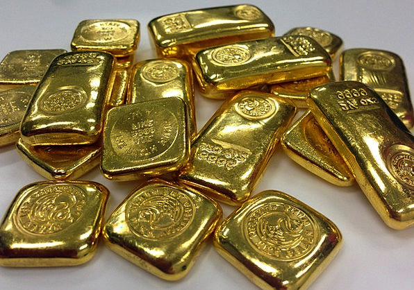 Gold Gilded Finance Business Ing Bullion Bars Of G
