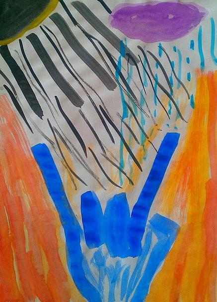 Heavy Metal Tinted Wassermalfarbe Painted Art Pain