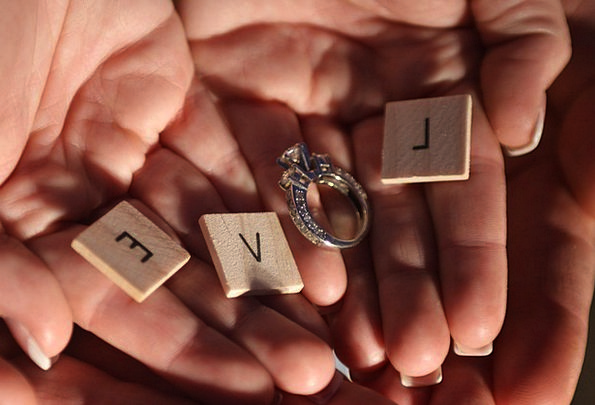 Love Darling Circle Romance Latin-based Ring Jewel