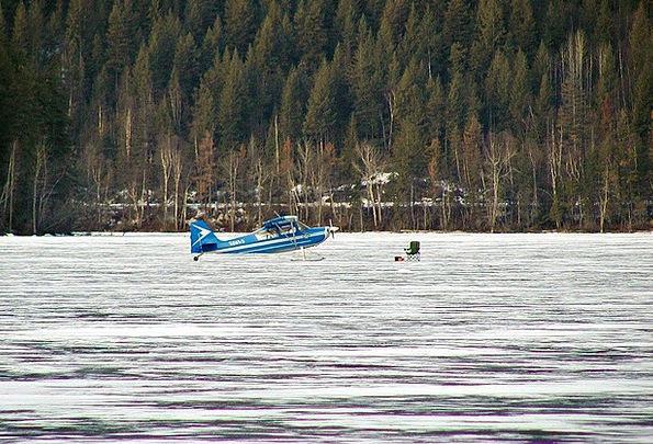 Ice Landing Winter Season Floatplane Frozen Ice-co