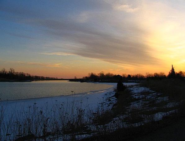 Winter Vacation Sundown Travel Dusk Twilight Sunse