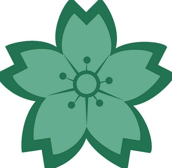Flower Floret Flowery Green Lime Floral Teal Free