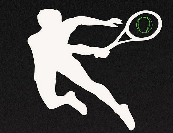 Tennis-Player Outline Play Production Silhouette S