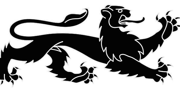 Lion Emblem Heraldic Animal Wild Insignia Black
