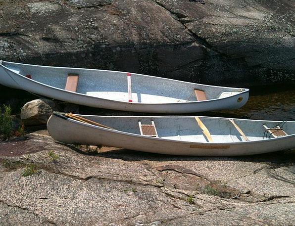 Canoes Landscapes Coast Nature Lake Freshwater Sho