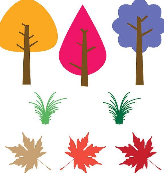 Trees Plants Landscapes Greeneries Nature Fallen L