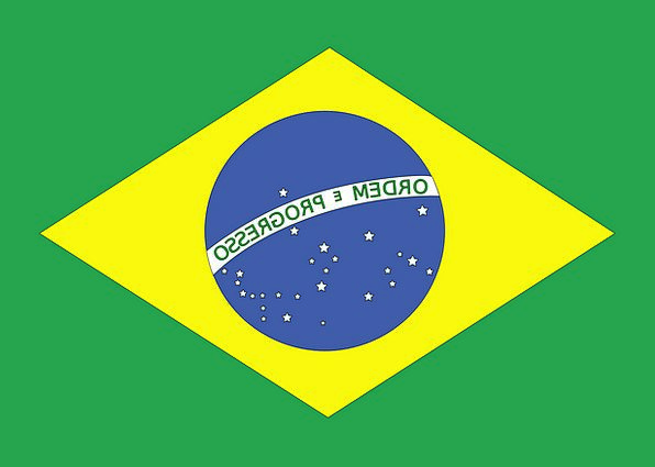 Brazil Standard National Nationwide Flag Country R