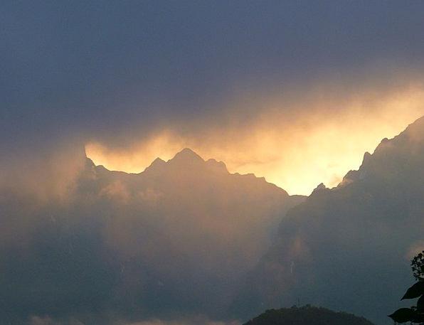 Andes Crags Machu Picchu Mountains Haze Machupicch