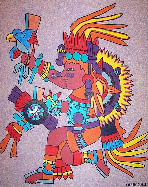 Tonatiuh Aztec Day God Aztec Aztec God Painting In