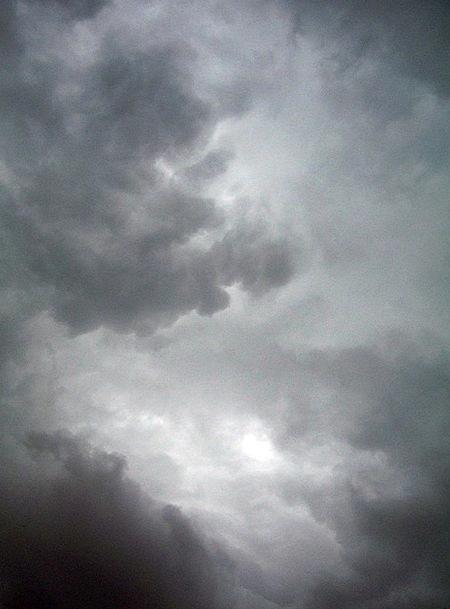 Dark Dim Vapors Sky Blue Clouds Stormy Dramatic Af