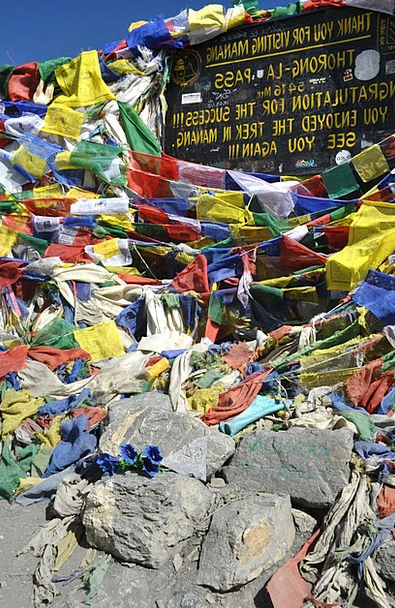 Prayer Flags Landscapes Streamers Nature Annapurna