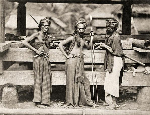Batak Soldier Fighter Combatant Warrior 1870 Black